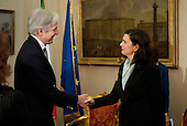 Laura Boldrini meets Christopher Prentice