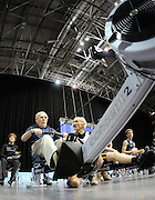 Birmingham, Great Britain,  Men 90+ , 99 year old John HODGSON completing his 2000 meter race on the ergo in a time of 12min.21sec dead at  the British Indoor Rowing Championships, National Indoor Arena, NIA, Sun, 22.11.2009  [Mandatory Credit. Peter Spurrier/Intersport Images]