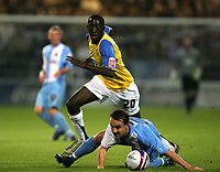 Photo: Paul Greenwood.<br />Chester City v Hereford United. Coca Cola League 2. 12/10/2007.<br />Hereford United's Touami Diagouraga, (rear) beats Tony Dinning to the ball