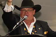 Auctioneer Doug Sorrell during the 2010 Cattle Baron's Ball at the home of David and Shery Oakes in Centerville, Saturday, August 28, 2010.