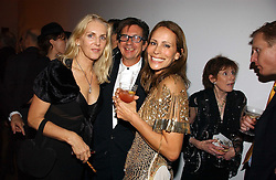 Left to right, FRANCESCO & GAEL BOGLIONE and ANDREA DELLAL at a party to celebrate the 90th birthday of Vogue magazine held at The Serpentine Gallery, Kensington Gardens, London on 8th November 2006.<br />
