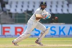 August 3, 2017 - Colombo, Sri Lanka - Indian cricketer ..Cheteshwar Pujara plays a shot during the 1st Day's play in the 2nd Test match between Sri Lanka and India at the SSC international cricket stadium at the capital city of Colombo, Sri Lanka on Thursday 03 August 2017. (Credit Image: © Tharaka Basnayaka/NurPhoto via ZUMA Press)