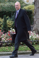 Downing Street, London, October 25th 2016. Transport Secretary Chris Grayling arrives at 10 Downing Street for the weekly cabinet following a Heathrow Third Runway Sub-Committee meeting at the same venue.