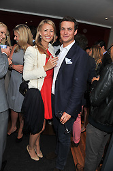 TOM DALEY and ANNEKE VON TROTHA TAYLOR at Inception Group's Hamptons Garden Party to celebrate their collaboration with Embassy Gardens 2016 held at the Ballymore Marketing Suite, Nine Elms Lane, London on 12th July 2012.
