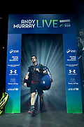 Andy Murray enters the arena during the Andy Murray Live event at SSE Hydro, Glasgow, Scotland on 7 November 2017. Photo by Craig Doyle.