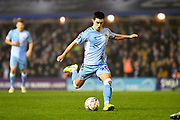 Coventry City midfielder Liam Walsh (20) takes a shot at goal during the The FA Cup match between Coventry City and Birmingham City at the Trillion Trophy Stadium, Birmingham, England on 25 January 2020.