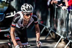 Laurens TEN DAM of Team Sunweb during the last climb at Mur de Huy of the 2018 La Flèche Wallonne race, Huy, Belgium, 18 April 2018, Photo by Pim Nijland / PelotonPhotos.com | All photos usage must carry mandatory copyright credit (Peloton Photos | Pim Nijland)