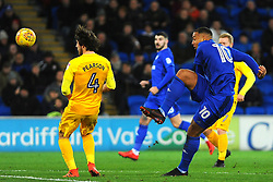 Kenneth Zohore of Cardiff City shoots at goal- Mandatory by-line: Nizaam Jones/JMP - 29/12/2017 -  FOOTBALL - Cardiff City Stadium - Cardiff, Wales -  Cardiff City v Preston North End - Sky Bet Championship