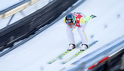 19.12.2014, Nordische Arena, Ramsau, AUT, FIS Nordische Kombination Weltcup, Skisprung, Training, im Bild Luka Oblak (SLO) // during Ski Jumping of FIS Nordic Combined World Cup, at the Nordic Arena in Ramsau, Austria on 2014/12/19. EXPA Pictures © 2014, EXPA/ JFK