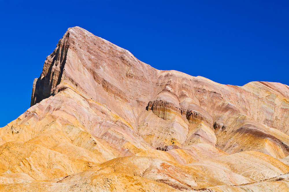 Manly Beacon from Zabriskie Point, Death Valley National Park. California