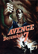 Avenge 7th December   American poster after Pearl Harbour attack by Japan 1941   Collection