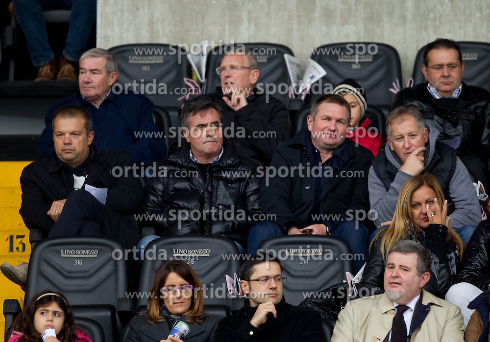 , Tomaz Kavcic, Matjaz Kek and Milan Miklavic during football match between Udinese Calcio and Palermo in 8th Round of Italian Seria A league, on October 24, 2010 at Stadium Friuli, Udine, Italy.  Udinese defeated Palermo 2 - 1. (Photo By Vid Ponikvar / Sportida.com)