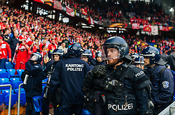 18.05.2016, St. Jakob Park, Basel, SUI, UEFA EL, FC Liverpool vs Sevilla FC, Finale, im Bild Polizei in Kampfmontur // Police in riot gear during the Final Match of the UEFA Europaleague between FC Liverpool and Sevilla FC at the St. Jakob Park in Basel, Switzerland on 2016/05/18. EXPA Pictures © 2016, PhotoCredit: EXPA/ JFK