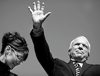 McCain Thinks He is a Winner, but.....Republican Presidential nominee Senator John McCain (R-AZ) and his vice presidential running mate, Alaska Governor Sarah Palin speak to a crowd of 23,000 at Van Dyke Park in Fairfax, Virginia ? Wednesday September 10, 2008.  .