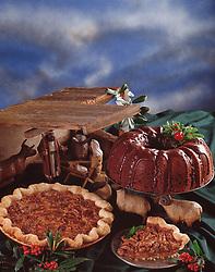 Country kitchen recipes, bundt cake, pecan pie,