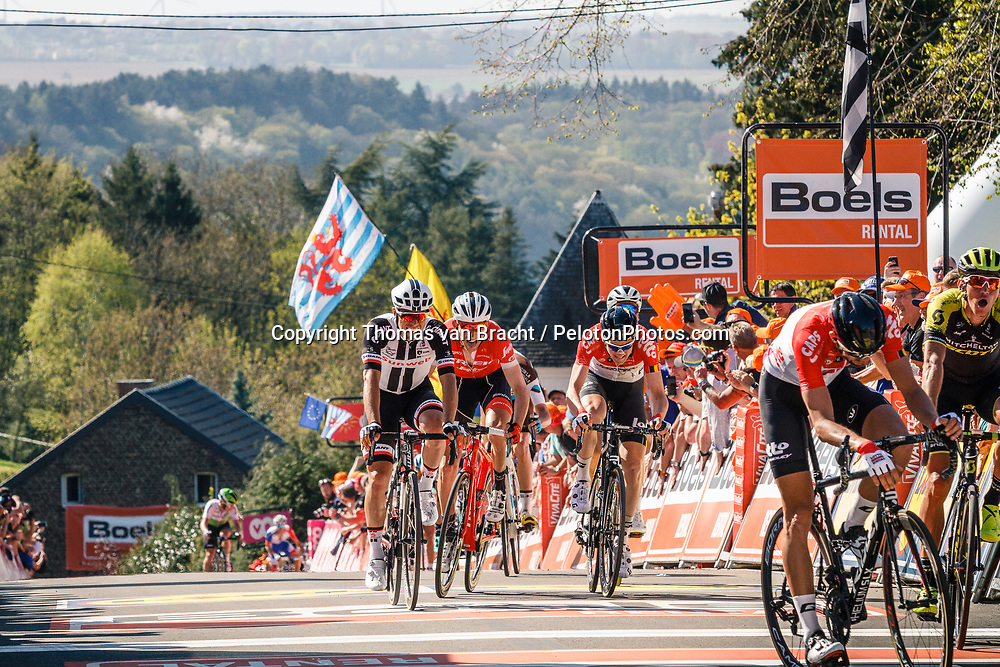MATTHEWS Michael of Team Sunweb finishing 5th during the 2018 La Flèche Wallonne race, Huy, Belgium, 18 April 2018, Photo by Thomas van Bracht / PelotonPhotos.com | All photos usage must carry mandatory copyright credit (Peloton Photos | Thomas van Bracht)