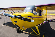An Aeronca Champ at the Nortwest Antique Airplane Club flyin, Scapoose, OR