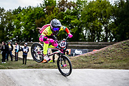 #156 (AZUERO Domenica) ECU during practice at Round 3 of the 2019 UCI BMX Supercross World Cup in Papendal, The Netherlands