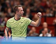 PHILIPP KOHLSCHREIBER (GER) macht die Faust und jubelt, Halbkoerper, Jubel,Emotion, <br /> <br /> <br /> Tennis - ERSTE BANK OPEN 2017 - ATP 500 -  Stadthalle - Wien -  - Oesterreich  - 27 October 2017. <br /> &copy; Juergen Hasenkopf