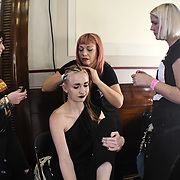 Toni & Guy - label.m fantastic and lovely people backstate at Fashion Scout - SS19 at Freemasons Hall, London, UK. 16 September 2018.
