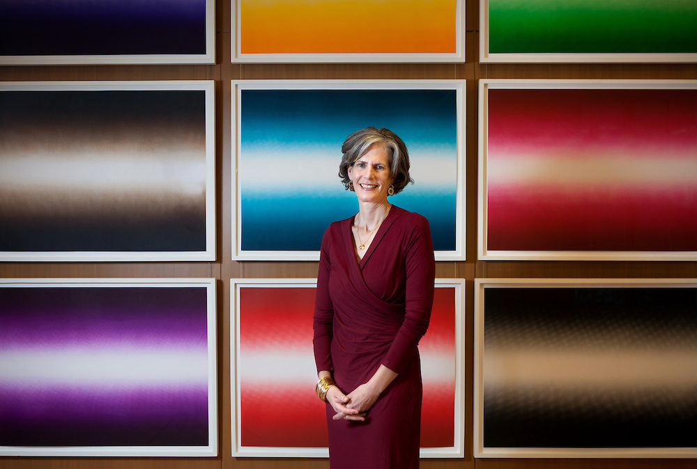 Kate D. Levin has been named first fellow of National Center for Arts Research at SMU, photographed in front of art work by Anish Kapoor at Bloomberg Associates in New York, NY on September 12, 2014.<br /> The National Center for Arts Research (NCAR) at Southern Methodist University in Dallas, Texas, has appointed Kate D. Levin, former commissioner of the New York City Department of Cultural Affairs under the Bloomberg administration, to be its first fellow.