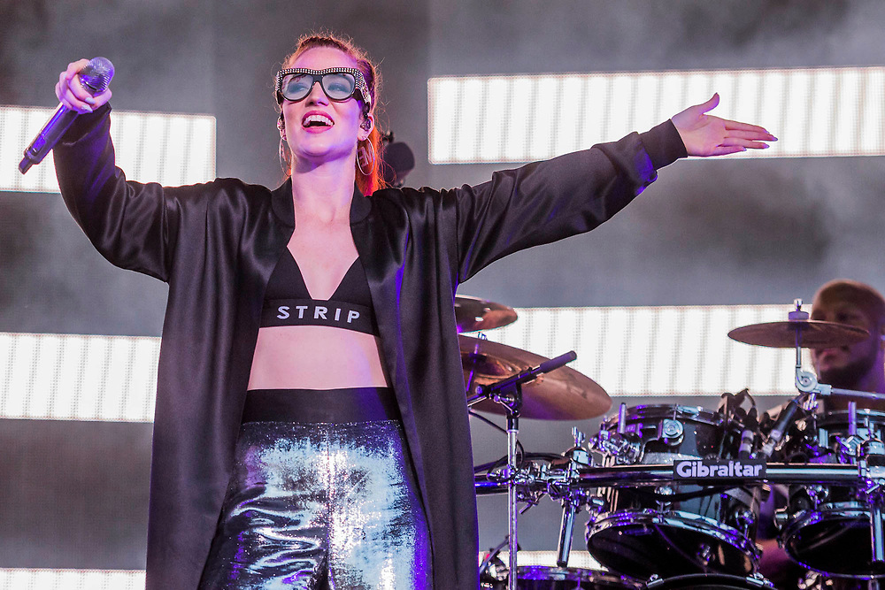 Jess Glynne plays the floating stage - Henley Festival is a boutique event over five days celebrating the best of UK & international music and arts with a programme from pop to world music, classical to jazz, blues to jazz musicians, where art, comedy and gastronomy share equal billing with music. Henley on Thames 05 July 2017