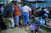 Huautla de Jimenez. Day of the Dead: theMazatec Indians coming at cemetery the afternoon before the celebration.