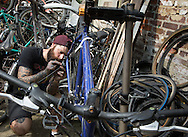Hidden behind a metal shutter somewhere in Kemptown, there exist a space dedicated to bike maintenance. It's a volunteer-led project which enables cyclists to use tools and gain advice in order to make repairs to their own bikes.