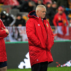 Lions coaches Graham Rowntree (left) and Warren Gatland during the 2017 DHL Lions Series 2nd test rugby match between the NZ All Blacks and British & Irish Lions at Westpac Stadium in Wellington, New Zealand on Saturday, 1 July 2017. Photo: Dave Lintott / lintottphoto.co.nz