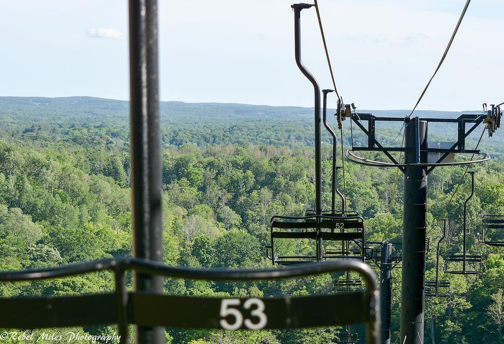Summer View Off Of A Ski Lift At Shanty Creek Resort