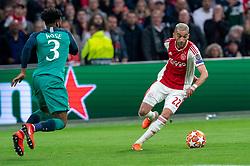 08-05-2019 NED: Semi Final Champions League AFC Ajax - Tottenham Hotspur, Amsterdam<br /> After a dramatic ending, Ajax has not been able to reach the final of the Champions League. In the final second Tottenham Hotspur scored 3-2 / Hakim Ziyech #22 of Ajax, Danny Rose #3 of Tottenham Hotspur