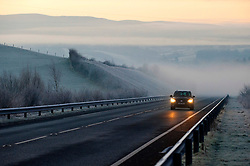© Licensed to London News Pictures. 19/01/2020. Builth Wells, Powys, Wales, UK. A very cold wintry scene this morning near Builth Wells after temperatures dropped tominus 6 C last night in Powys, Wales, UK. Photo credit: Graham M. Lawrence/LNP