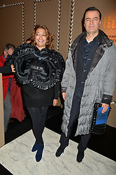 Left ZAHA HADID at the PAD London 2015 VIP evening held in the PAD Pavilion, Berkeley Square, London on 12th October 2015.