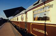 Al Andalus Expreso at Granada station. Alhambra restaurant car.
