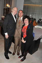 Left to right, ED VICTOR, AA GILL and RUBY WAX at a party to celebrate the publication of Fame Game by Louise Fennell held at Grace, West Halkin Street, London on 12th March 2013.