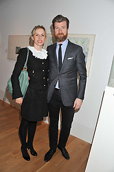GARY WATERSTON Director, Gagosian Gallery and his wife SANDRA at a private view of work by the late Rory McEwen - The Colours of Reality, held at the Shirley Sherwood Gallery, Kew Gardens, London on 20th May 2013.