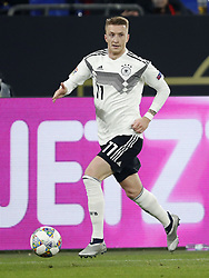 Marco Reus of Germany during the UEFA Nations League A group 1 qualifying match between Germany and The Netherlands at the Veltins Arena on November 19, 2018 in Gelsenkirchen, Germany