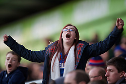 LONDON, ENGLAND - Saturday, February 21, 2015: A Crystal Palace supporter during the Premier League match against Arsenal at Selhurst Park. (Pic by David Rawcliffe/Propaganda)