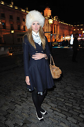 SABRINA PERCY at a Winter Party given by Tiffany & Co. Europe to launch the 10th season of Somerset House's Ice Skating Rink at Somerset House, The  Strand, London on 16th November 2009.