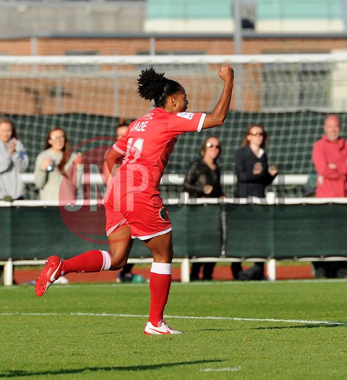 Bristol Academy's Jade Boho Sayo celebrates equalising on her debut - Mandatory by-line: Paul Knight/JMP - 25/07/2015 - SPORT - FOOTBALL - Bristol, England - Stoke Gifford Stadium - Bristol Academy Women v Sunderland AFC Ladies - FA Women's Super League