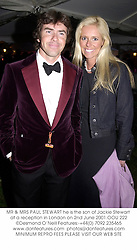 MR & MRS PAUL STEWART he is the son of Jackie Stewart at a reception in London on 2nd June 2001.OOU 222
