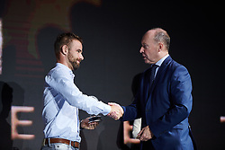 Victor Campenaerts (BEL) at UCI Cycling Gala 2019 in Guilin, China on October 22, 2019. Photo by Sean Robinson/velofocus.com