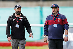 Bristol Post photographer John White (YTscoop) and Sam FM Presenter Ian Downs - Mandatory byline: Rogan Thomson/JMP - 07966 386802 - 13/09/2015 - RUGBY UNION - Old Deer Park - Richmond, London, England - London Welsh v Bristol Rugby - Greene King IPA Championship.