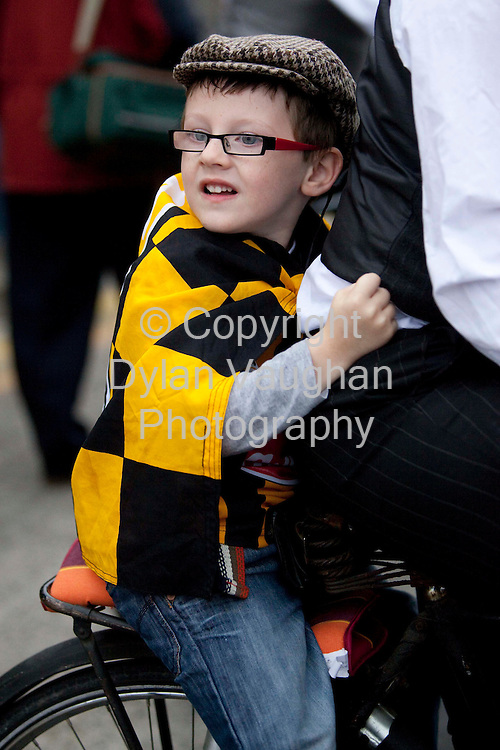 6/9/2009.Tadgh O Meara aged 11 pictured at the Kilkenny All Ireland homecoming..Picture Dylan Vaughan.