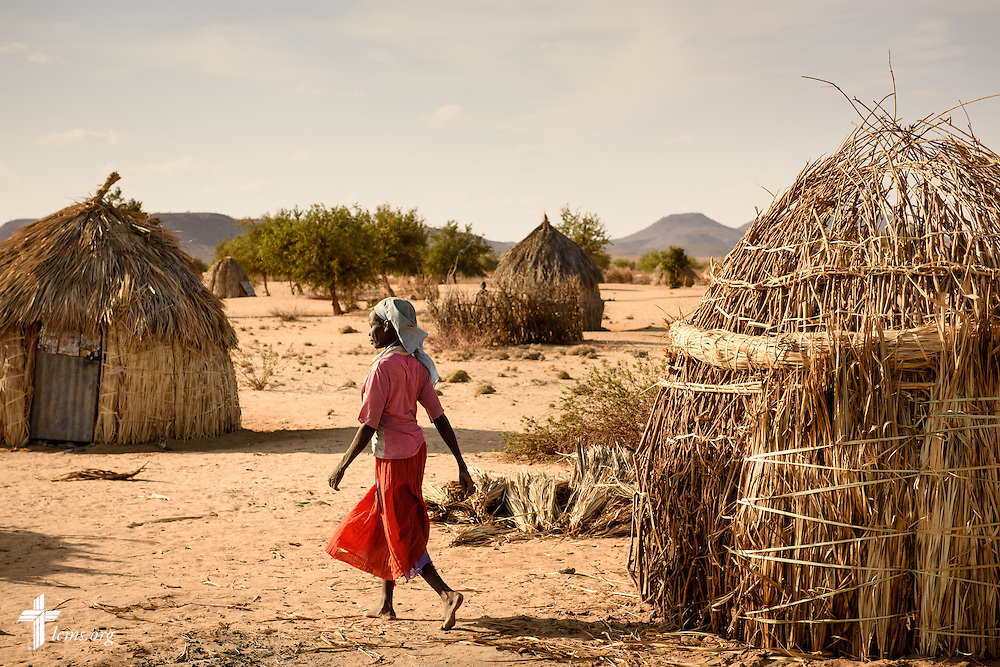 A woman walks through her small village on Friday, Oct. 16, 2015, in Turkana, northwest Kenya. LCMS Communications/Erik M. Lunsford