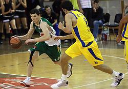 Vlado Ilievski of Union Olimpija at Pre-season basketball tournament between Union Olimpija, Ljubljana, and Maccabi Elite Tel Aviv, on September 28, 2008, in Arena Tivoli in Ljubljana. Match was won by Union Olimpija 83:81. (Photo by Vid Ponikvar / Sportal Images)