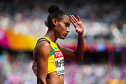 London, 2017 August 06. Stephenie Ann McPherson, Jamaica, in the heat two of the Women's 400m on day three of the IAAF London 2017 world Championships at the London Stadium. © Paul Davey.