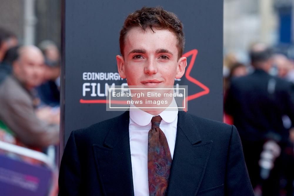 "Laurie Kynaston, on the red carpet at the Edinburgh International Film Festival world Premier of ""England is Mine"" at Edinburgh's Festival Theatre. Sunday, 2nd July, 2017(c) Brian Anderson | Edinburgh Elite media"