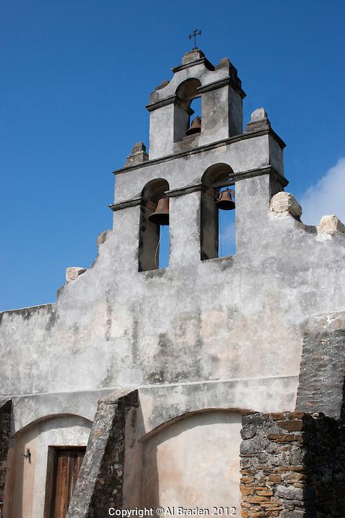 Bell Tower, Mission San Juan Capistrano, San Antonio, TX.