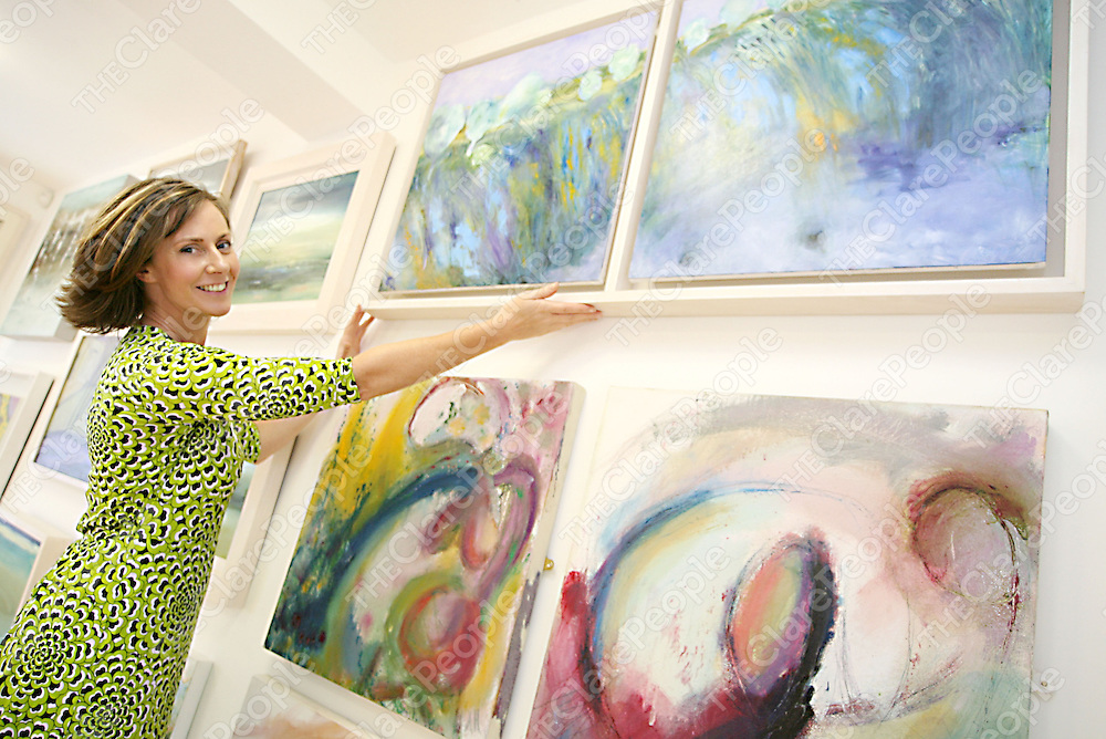 Owner of the new 'Ennis Art Gallery' on Francis Street Denise McCarthy which will be opening on Friday.<br /><br /><br /><br />Photograph by Yvonne Vaughan.